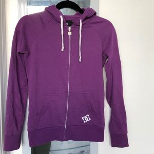 DC purple hoodie, size small